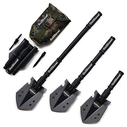outshovel–Pala plegable de supervivencia militar y recoger con bolsa de transporte para...