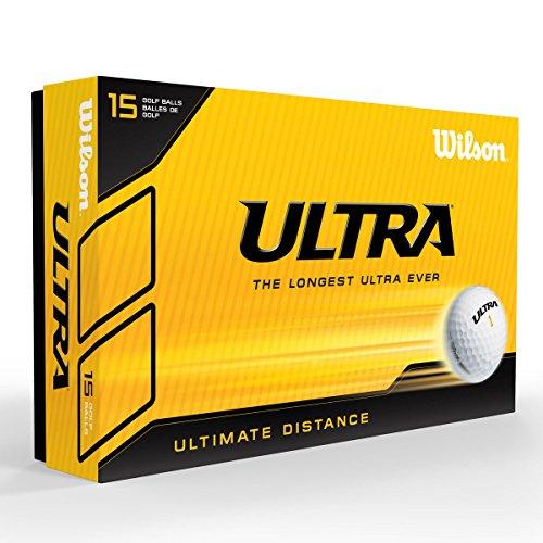 Wilson Ultra LUE 15 Ball PK White Bolas de Golf, Hombre, Blanco, Talla Única