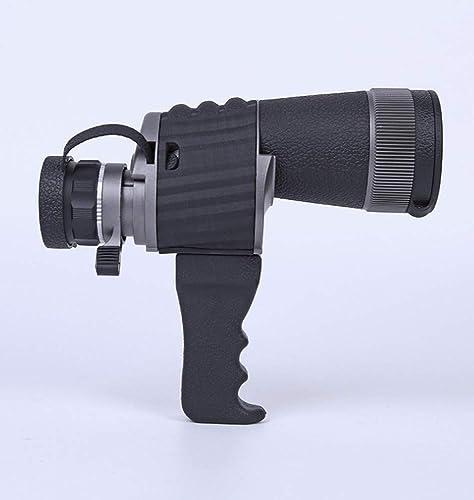 WYJ Télescope Astronomique Télescope Extérieur HD Poignée Ad50 Monoculaire De Vision Nocturne De Faible Niveau De Lumière,Noir,Binoculaire