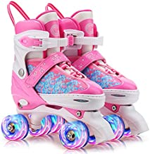 Gonex Roller Skates for Girls Kids Boys Women with Light up Wheels and Adjustable Sizes for Indoor Outdoor, M