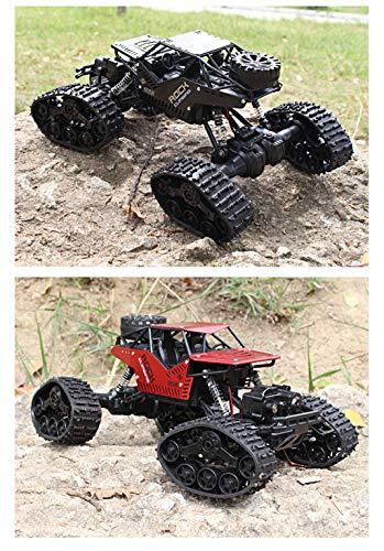 RC Auto kaufen Monstertruck Bild 2: RC Auto Ferngesteuert Fahrzeug 1/16 4WD Monster Truck Alloy Track Offroad Kletterwagen Desert Buggy Racing RTR Mit 2 x 1.5V AA Battery akku für Kinder und Erwachsene (Schwarz)*