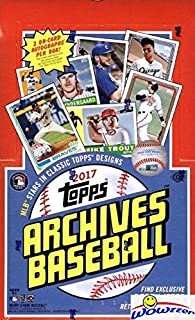 2017 Topps Archives Baseball HUGE Factory Sealed 24 Pack HOBBY Box with 2 AUTOGRAPHS & 192 Cards! Look for Rookies & Autographs of Aaron Judge, Andrew Benintendi & More! Wowzzer!
