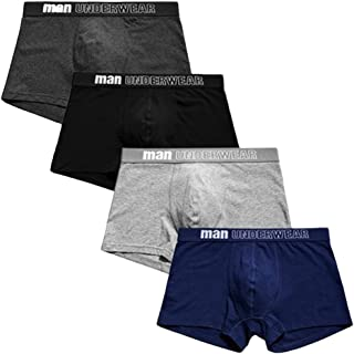 Men's Boxer Shorts 4-pack Breathable Boxers Soft Cotton Trunk Underwear