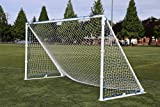 Portable, Aluminum, Metal Soccer Goal by Farpost, 3-Sizes-in-One, Perfect as a Club or Backyard Soccer Goal