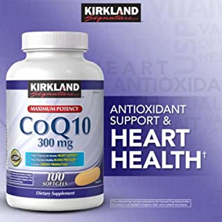 Kirkland Signature CoQ10 300 mg., 100 Softgels ,(Pack of 4) Kirkland-uk