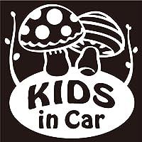 imoninn KIDS in car ステッカー 【シンプル版】 No.41 キノコさん (白色)