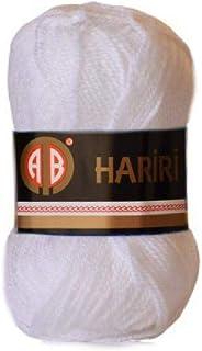 AB Hariri White Colour No.208 Crochet and Knitting Yarn