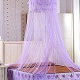 Mosquitera de Dosel de Cama, Princesa mosquiteros, Poliéster Cama Mosquitera, para Hamacas, Cunas, Camas Individuales, Cama Matrimonial (60 * 260 * 900cm) (Púrpura)