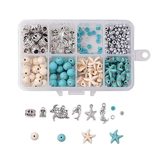 Queta Caja de Fabricación de Pendientes Kit DIY Aretes Colgantes de Concha...