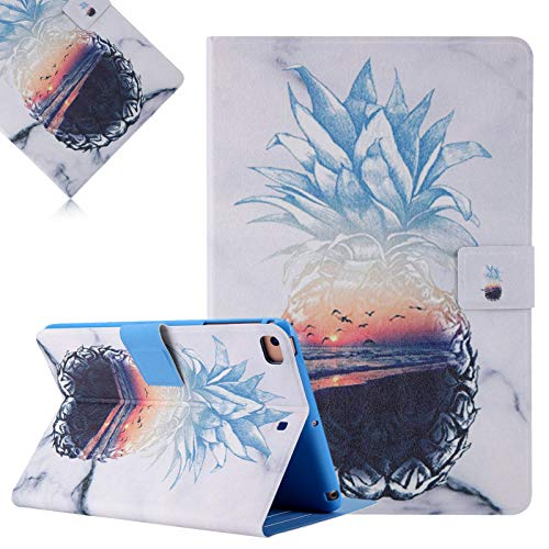 LCHDA Case for iPad Mini 5/4 / 3/2 / 1 (7.9 Inch), Slim Lightweight Flip Folio Stand Smart Shell Soft PU Leather Shockproof Protective Cover with Auto Wake/Sleep - Pineapple