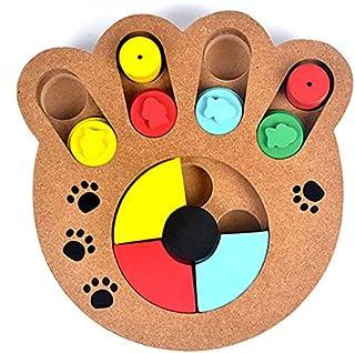 SKEIDO Dog Toys Interactive Dog Puzzle Pet Bowl IQ Interactive Slow Eating Feeding Food Bowls Portable Puppy Feeder Choke ...