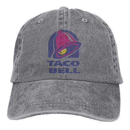 Taco Bell Retro Verstellbarer Cowboy Denim Hut Unisex Hip Hop Schwarz Baseball Caps Net rot 17343