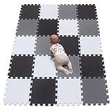 YIMINYUER Tapis Mousse bébé Puzzle de Sol Bebe Tapis pour Dalle Jeu Enfant R01R04R12G301020