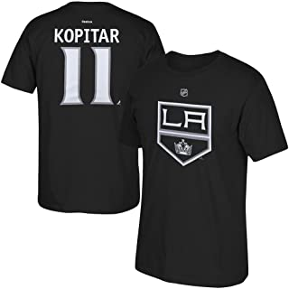 Anze Kopitar Black Name and Number Los Angeles Kings T-Shirt