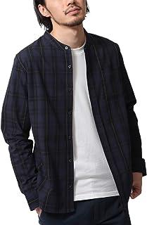 [ ジップファイブ ] ZIP FIVE シャツ メンズ ブロード バンドカラー 長袖シャツ 綿100% 大きいサイズ br2009