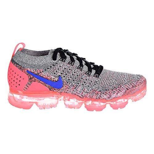 NIKE Women's Air Vapormax Flyknit 2 White/Ultramarine/Hot Punch/Black Nylon Running Shoes 8.5 D(M) US