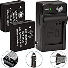 2 DMW-BCG10 Battery and Charger for Panasonic Lumix DMC-3D1 SZ8 TZ6 TZ7 TZ8 TZ10 TZ18 TZ19 TZ20 TZ25 TZ30 TZ35 ZR1 ZR3 ZS1 ZS3 ZS5 ZS6 ZS7 ZS8 ZS9 ZS10 ZS15 DMC-ZS19 ZS20, ZS25, ZX1 ZX3 -BY BM Premium
