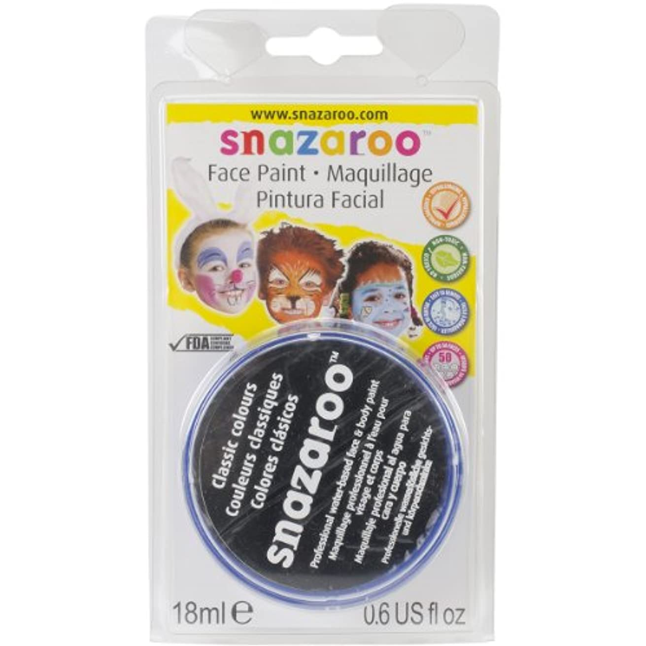 Reeves Snazaroo Face Paint, 18ml, Black