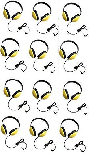 Califone 2800-YL Listening First Headphones in Yellow (Set of 12)