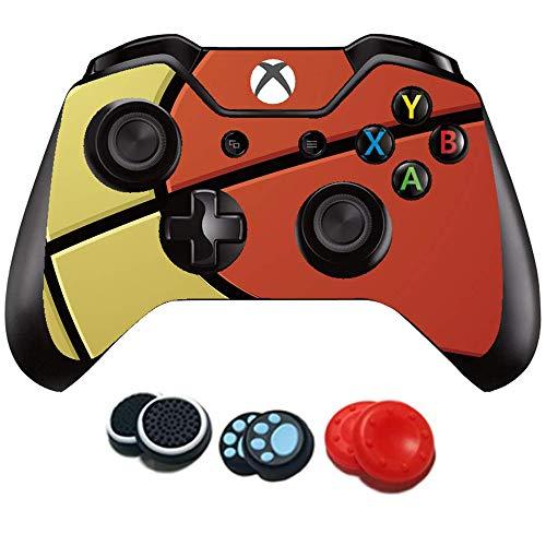easyCool Aufkleber für Xbox One Controller (Vinyl, für Microsoft Xbox One DualShock Wireless Controller, Basketball)