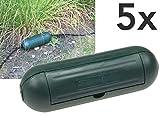 Outdoor Sicherheitsbox IP44 Schutzbox 5Stück Grün Safe-Box für Kabelverbindung Spritzwasserschutz Schutzkaspel für Verlängerungskabel und Stromstecker im Aussenbereich