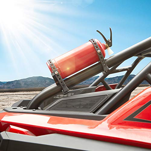 Kemimoto UTV Fire Extinguisher Holder, Adjustable Quick Release Roll Bar Fire Extinguisher Mount Compatible with Polaris RZR, Can Am Maverick/Commander, Honda Talon/Pioneer 1000 700 500