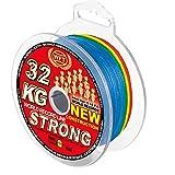 WFT geflochtene Angelschnur KG Strong Exact 350m Multicolor 0,22mm