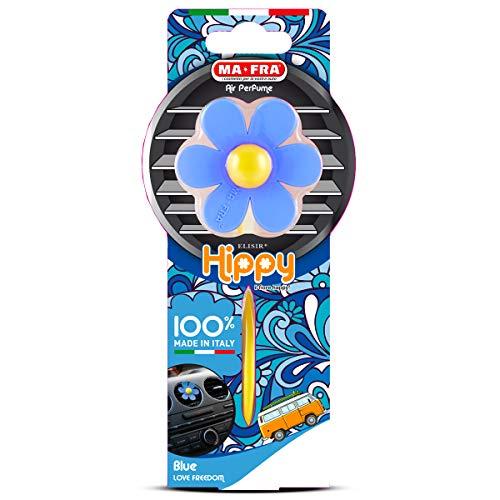 Mafra H0380, Hippy Flower Love Freedom, Parfumeur Voiture au Parfum de Vanille Intense et Durable, Déodorant à Forme de Fleur Bleu