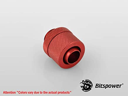 "G1/4"" Deep Blood Red Compression Fitting CC2 V2 For ID 3/8"" OD 1/2"" Tube"
