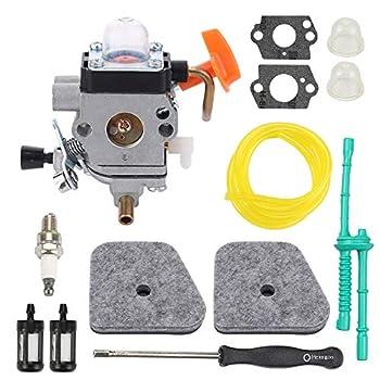 Buckbock C1Q-S174 Carburetor for FS87 FS90 FS90R FS100 FC90 FC95 FC100 FC110 FS130 Replaces 4180 120 0604 4180-120-0611 Carb with Tune Up Kits