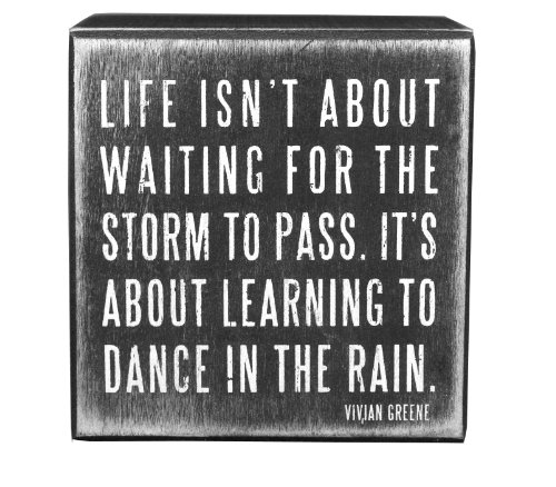 Primitives by Kathy ~ Wood Block Plaques ~ Sentiment ~ DANCE IN THE RAIN by Primitives by Kathy