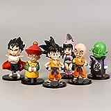 6 PCS / SET Figuras de Dragon Ball Goku Vegeta Trunks Doll 11CM Figura de acción PVC Anime Modelo Figuras pequeñas Juguetes para decoración de pasteles Regalo de cumpleaños