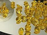 versandhop 400 Stück Diamanten Deko-Steine Transparent-Gold Dekoration Kristall-Klar Ø 1cm 10mm...