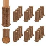 24Pcs Calcetines para Patas de Silla y Mesa, Elásticos Protectores de Pata de Madera Gruesa, Muebles Tapa de Cubre-Antideslizante & Antiarañazos, Almohadillas para Muebles de Punto de 1 a 2 '