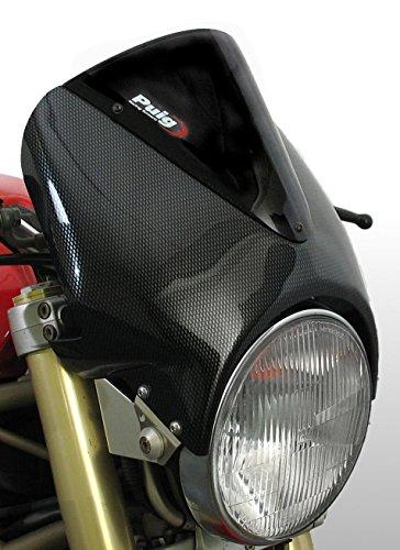 "Puig 1516C Carbon Vision Semi-Fairing Windshield for 8"" Round Headlight"