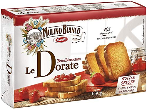 6x Mulino Bianco Fette Biscottate Zwieback kekse gebackenem Brot 630 g biscuits
