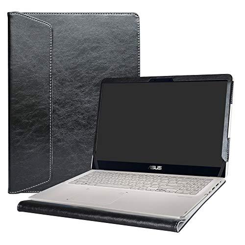 Alapmk Specialmente Progettato PU Custodia Protettiva in Pelle per 15.6' ASUS ZenBook Flip 15 UX561UD UX561UN & VivoBook Flip 15 TP510UA TP510UQ Series Notebook,Nero