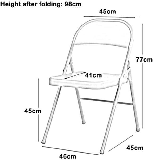 GLJJQMY PU rempli Cadre en métal en Acier Pliant Chaise d'ordinateur de Bureau à Domicile de Chaise Pliante Chaise empilable (Color : 9) 6
