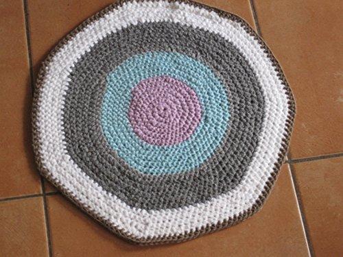 Häkelanleitung Teppich/ Läufer 45 cm Durchmesser, ideal auch für Anfänger: Schritt für Schritt Aneitung