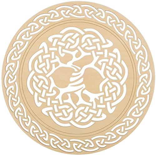 Celtic Knot Tree of Life Wooden Wall Art 12', Celtic Art, Irish Symbols,Celtic Triple Spiral, Celtic Decor, Irish Wall Art, Triple Helix Spiral, Wooden Wall Art,Fourth Level Mfg. Designs