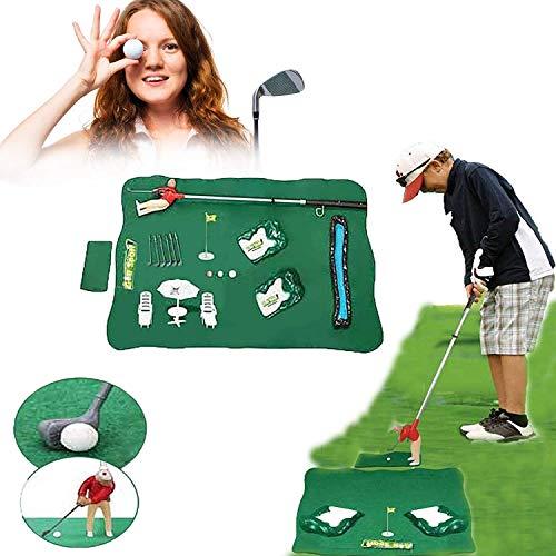 SJH Mini Golfming Man Indoor Golf Game, Juego De Mini Golf Interior Conjunto con Un Chico Pequeño Adjunto Al Club De Golf Mini Golf Juguete para Adultos Y Niños De Ayuda De Golf Ayuda