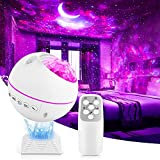 LED Night Light Projector 3 in 1 Galaxy Projector Sky Star Projector with Moon/Nebula Cloud/Star, Home Theater Lighting, Bedroom Night Light Mood Ambiance(Medium)
