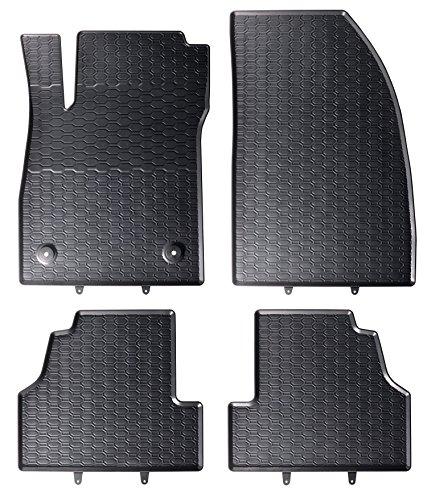 DAPA Prime Gummimatten Gummi Fußmatten Komplettset Schwarz perfekt passend mit Rand 1104011