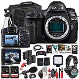 Canon EOS 5D Mark IV DSLR Camera (Body Only) (1483C002) + 4K Monitor + Pro Headphones + Pro Mic + 2 x 64GB Memory Card + Case + Corel Photo Software + Pro Tripod + 3 x LPE6 Battery + More (Renewed)
