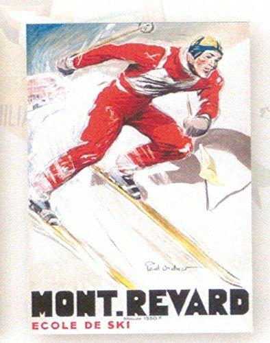 FRANZOSICH VINTAGE PLAKAT 50x70cm RETRO WERBUNG Skischule Mont Revard Aix les Bains von Paul Ordner