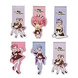 CoolChange Marcador de Libros magnéticos Manga de Re Zero con Motivos de Rem & Ram, 6 Piezas