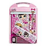 L.O.L. Surprise! Set Papeleria Bonita, Material Escolar Rosa de Las Muñecas Lol, Incluye Estuche Esc...