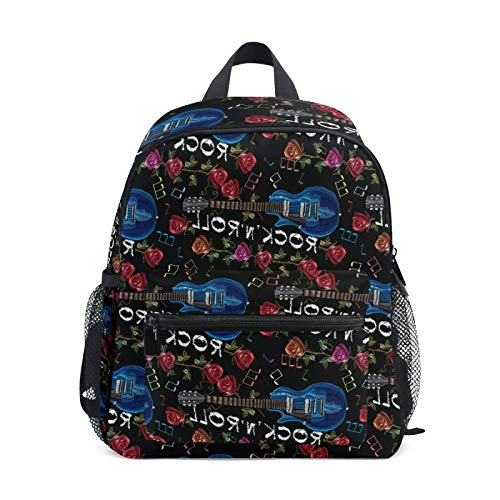 Backpack for Boys and Girls Mini Backpack Travel Bag with Chest Clip Music Instrument Pattern Seamless