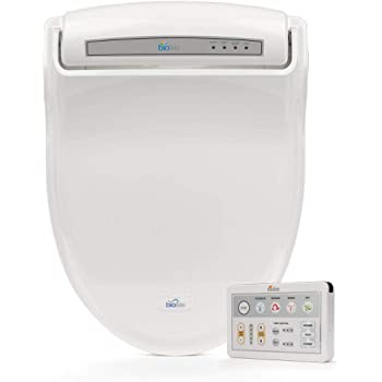 Biobidet Uspa 6800 Adjustable Bidet Toilet Seat With Wireless Remote Dual Nozzle Side Panel Function And Dryer White Elongated Amazon Com