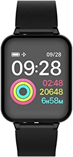 Smart Watch Android iOS Fitness Calorie Heart Rate Monitor Wristband Smart Watch (Black)
